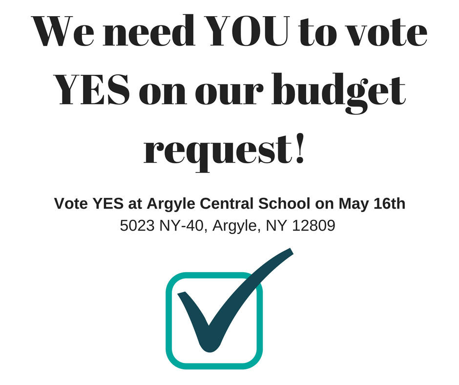 We need YOU to vote YES on our budget request!