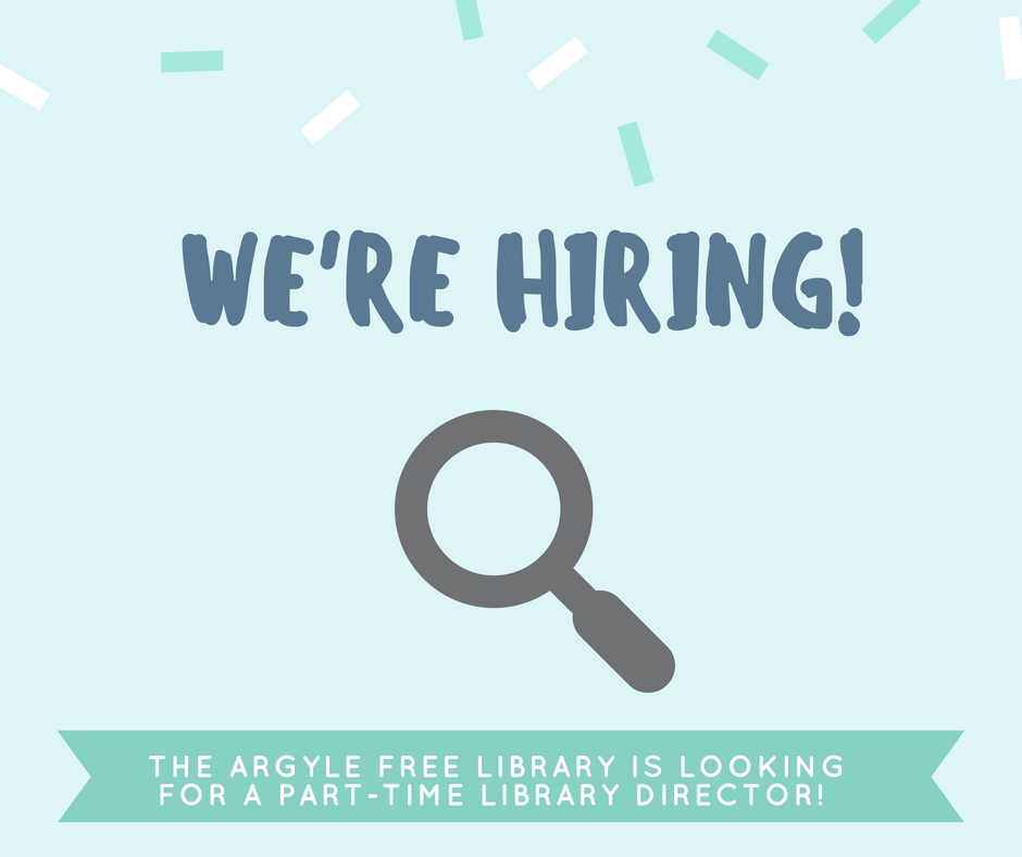 We're Hiring! PLibrary Director1