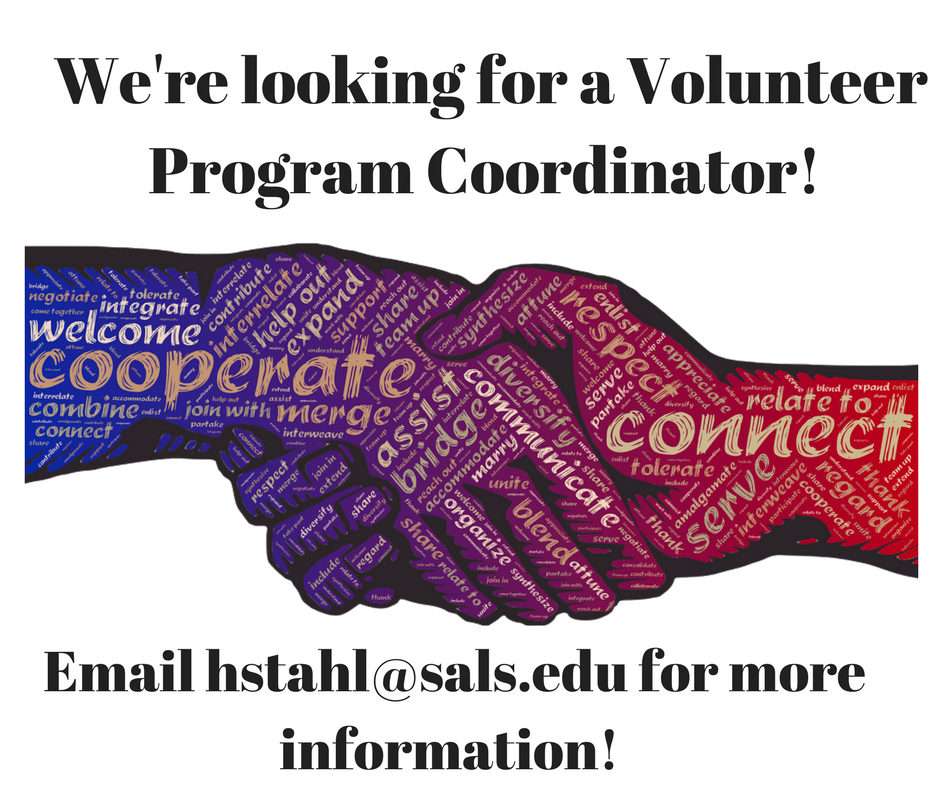 We're looking for a volunteer program coordinator!