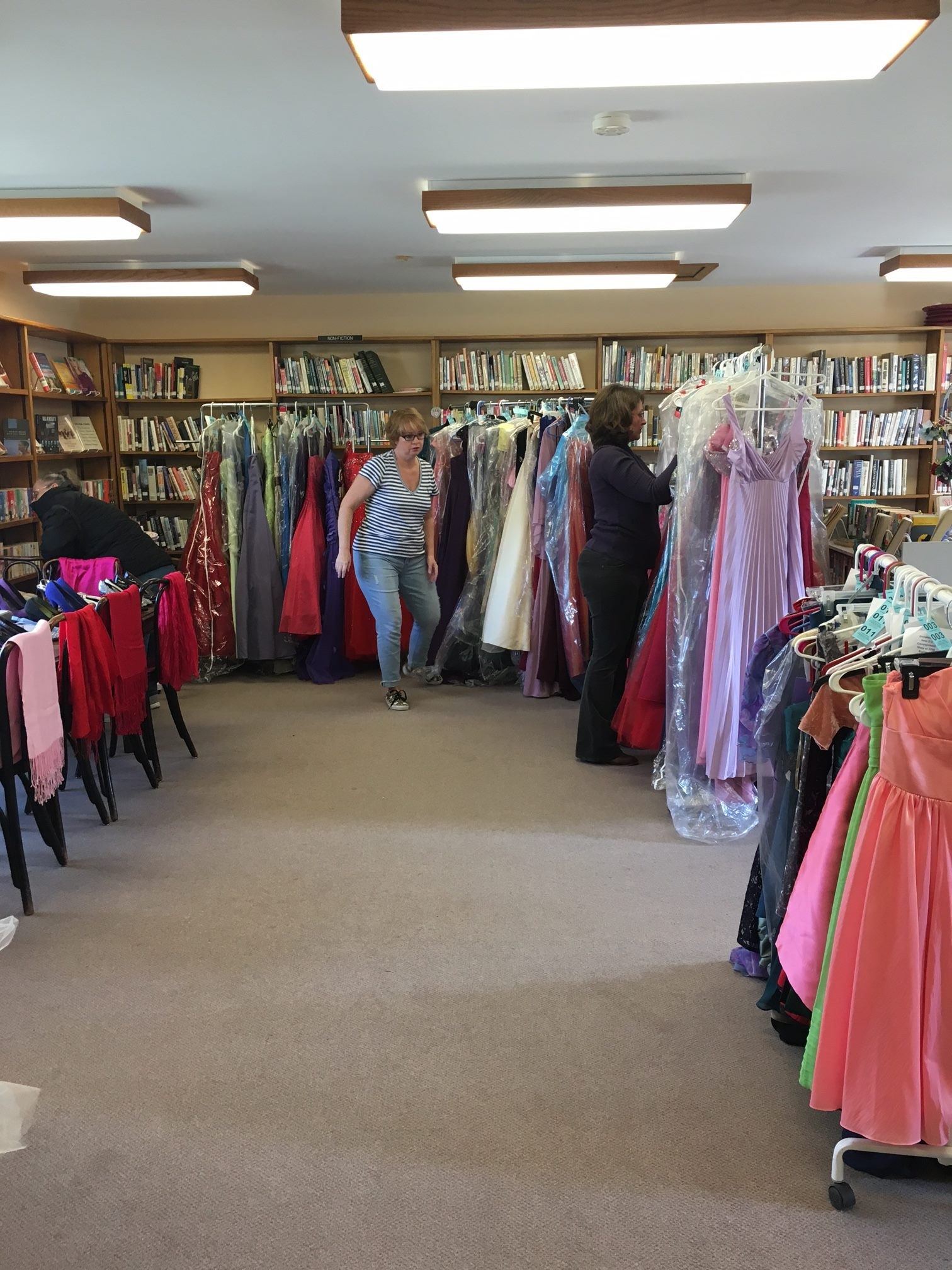 Our dresses! We have around 130 so far!