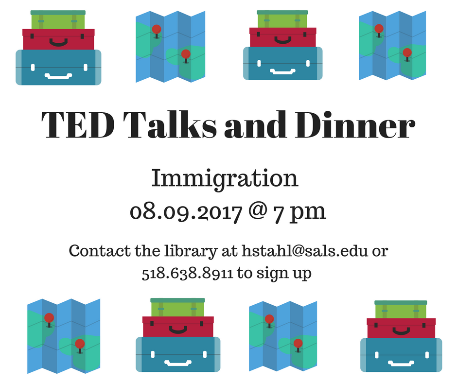 TED Talks and Dinner Immigration