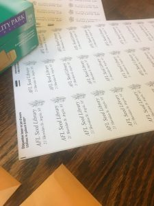Creating the seed packets for the seed library